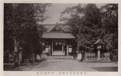日枝神社旧社殿(中門と拝殿)