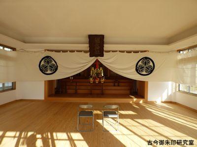 明石神社拝殿内部