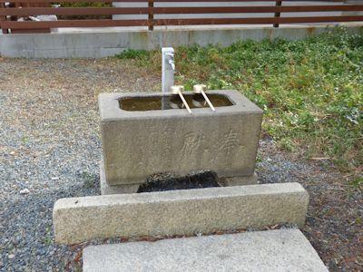 明石神社手水鉢