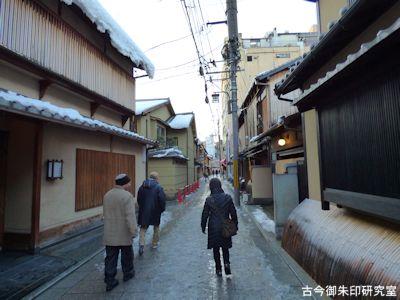 祇園、裏通りの町並み