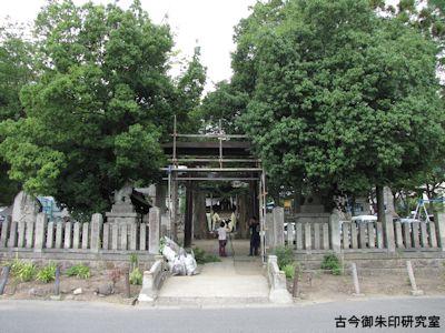 加茂神社(長野)社前風景