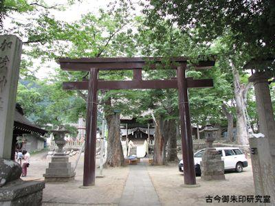 加茂神社(長野)鳥居