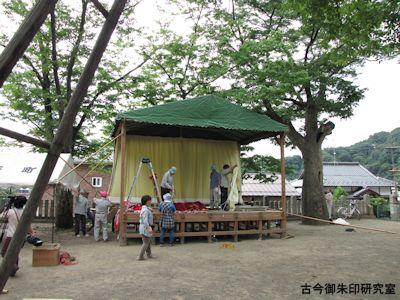 加茂神社(長野)仮設神楽殿