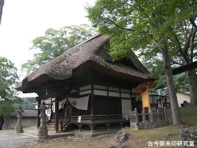 加茂神社(長野)拝殿