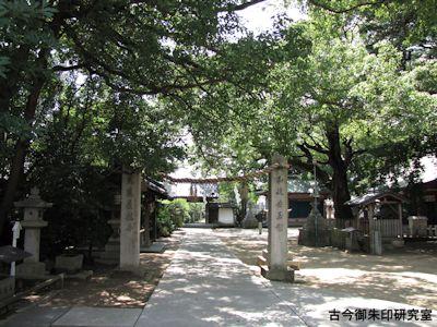 大依羅神社北参道の注連柱