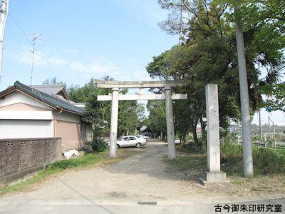 大神社鳥居と参道
