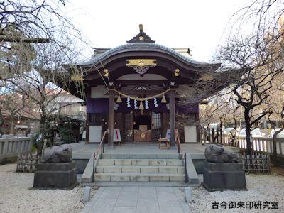 牛天神北野神社拝殿
