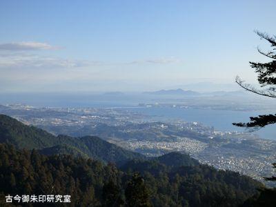 ケーブル延暦寺駅からの眺望