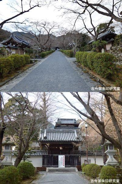 西教寺参道と勅使門