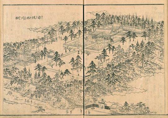 江戸名所図会赤坂氷川神社